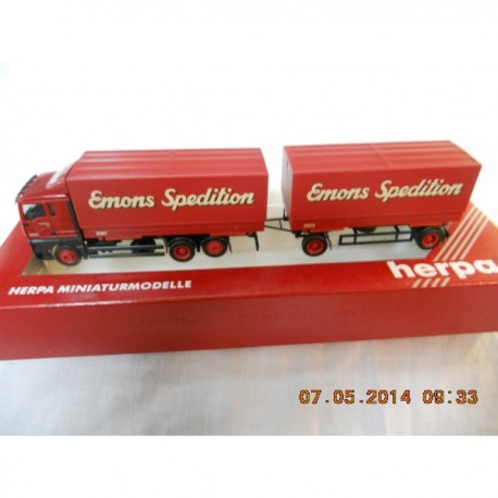 "** Herpa 146326 MAN TGA XL Interchangeable Pick-up Railer ""Emons"""