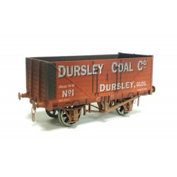 ** Dapol 7F-071-026W Weathered 7 Plank Wagon Dursley Coal