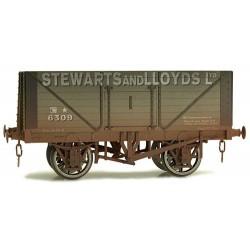 ** Dapol 7F-080-018W Weathered 8 Plank Wagon Stewart & Lloyds 6309