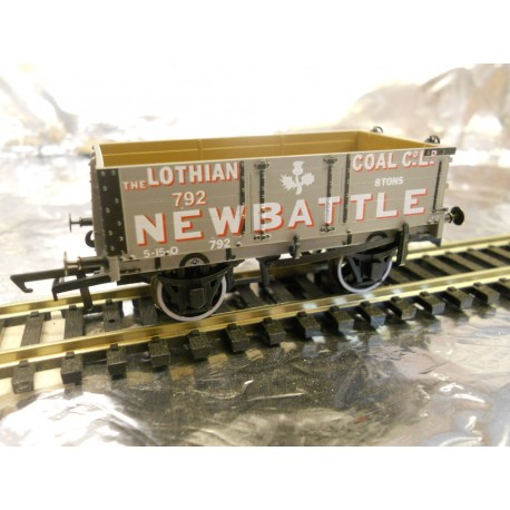 ** Oxford Rail OR76MW4005 4 Plank Wagon - Lothian Coal Co No.792