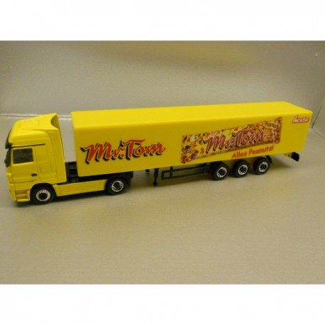 "** Herpa 451253 Mercedes Benz Actros LH Box Semitrailer ""Mr. Tom"""