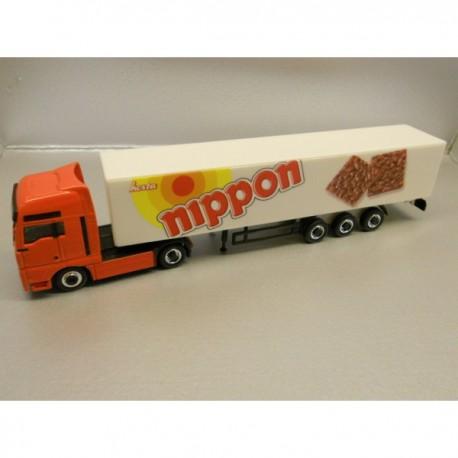 "** Herpa 451260 MAN TGA XXL Box Semitrailer ""Nippon"" ""MAGIC"""