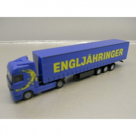 "** Herpa 066150 Mercedes-Benz Actros LH Curtain Canvas Semitrailer ""Engljähringer"" (A) ."