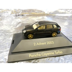 ** Herpa 20032 Advent 2 2003 Black Porsche Caynenne Turbo with Display Case