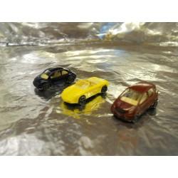 ** Wiking 9180627  3 x Assorted Cars (Mercedes, Porsche, Beetle)