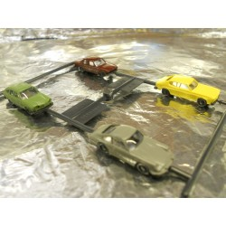 ** Wiking 09130520  Set of Four cars, ( Audi 100, VW 411, Porsche 911, and Ford Capri ).