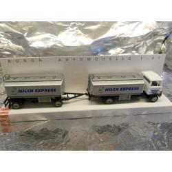 ** Busch 40724 Mercedes LP809 Milk Tanker with Tanker Trailer