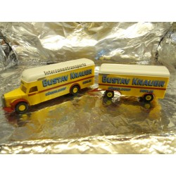 "** Brekina 55180  Lorry and Trailer  "" Gustav Knauer ""."