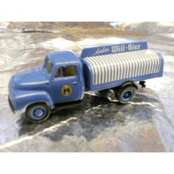 ** Brekina 35240 Beer Delivery Lorry Blue Will Bier