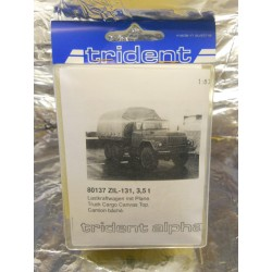 ** Trident 80137 ZIL-131 3.5 Ton Truck Cargo Canvas Top Whitemetal Kit