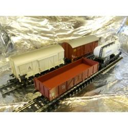 ** Liliput 240009  Scandanavian Freight Wagon Set ( 4 ) Era 3.