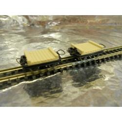 ** Roco 34507  2 x Narrow Gauge Bridge Wagons HOe Scale