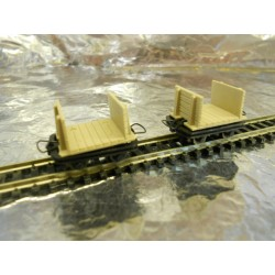 ** Roco 34504 2 x Narrow Gauge Wagons HOe Scale