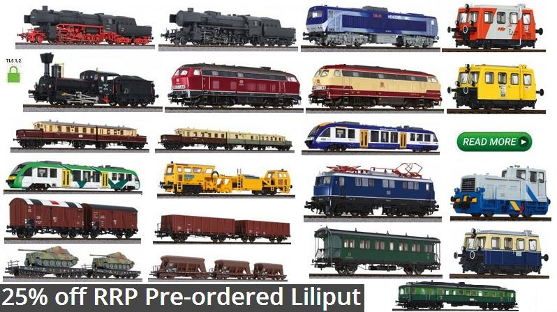 25% off RRP Pre-ordered Liliput Locomotive, Wagon and Coaches