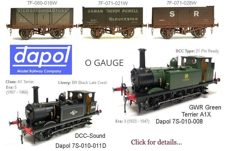 Great Models from Dapol in the Scale of O Gauge