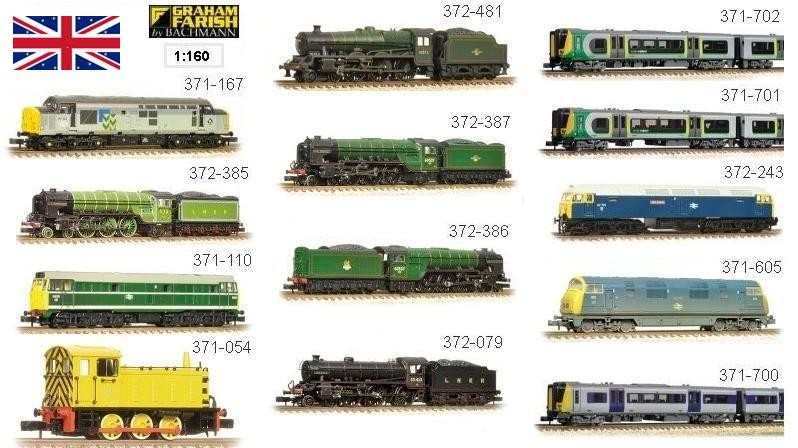 A stable of Farish N Gauge Locomotives at affordable prices