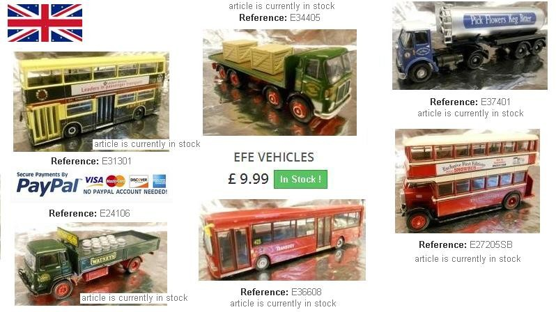 EFE Models at Huge Discounted Prices - Click to purchase these nice Models