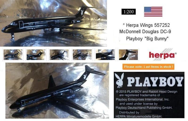 "557252  Playboy McDonnell Douglas DC-9-30 ""Big Bunny"""