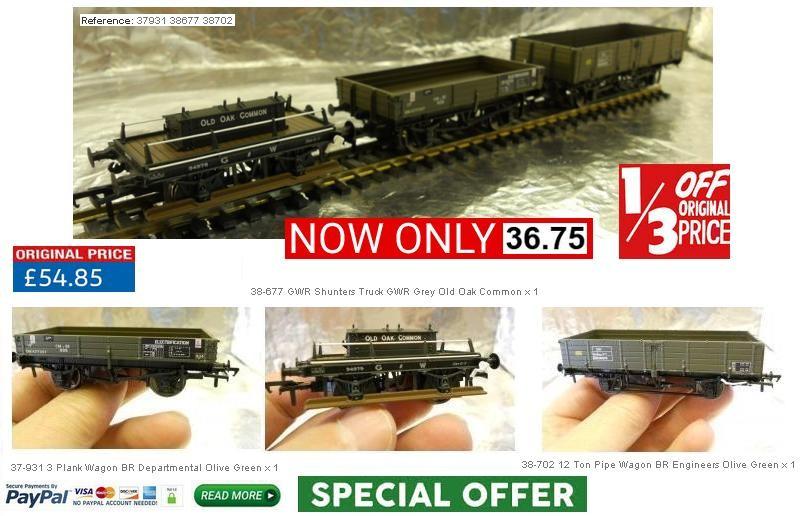 MDR Direct Offer IGK0001 - Bachmann 00 Wagons 1 x 12 Ton Pipe wagon - 1 x GWR Shunters Wagon - 1 x BR 3 plank Wagon