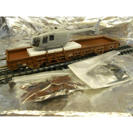"** Roco1910 "" Miniatur Modell "" Kb(g)s 442 Wagom + MBB Bo-105 Load"