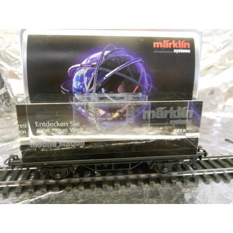 "** Marklin 94233  Marklin Systems Special Wagon. Glass Block Wagon. "" Note AC Wheels for Marklin System ""."