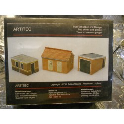 ** Artitec 10116  2 Brick Sheds and Garage Model Kit