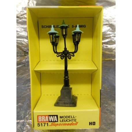 ** Brawa 5171  Candlelabra Lantern Five Arms  14/16 volts.