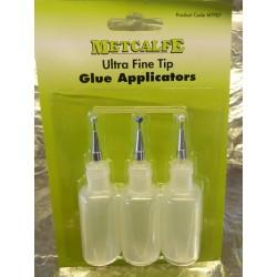 ** Metcalfe MT907  3 x Ultra Fine Tip Glue Applicators.