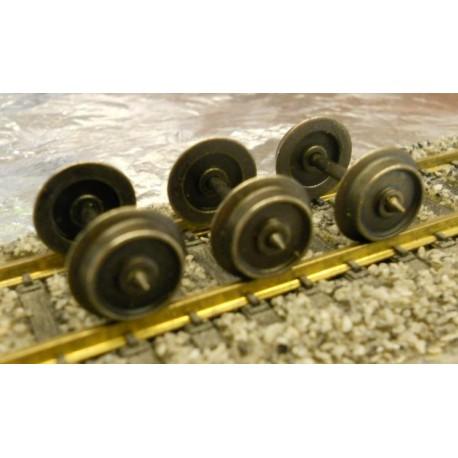 ** Marklin 700150 AC Wheelset (1) 10mm Dia x 24.4 mm Pointed Axel