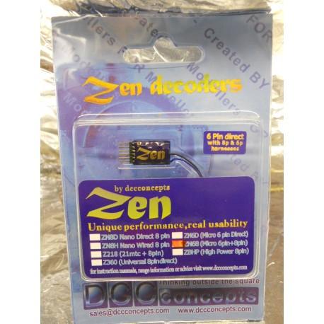 ** DCC Concepts DCD-ZN68 ZEN 6 PIN VERSATILE 2 Function Decoder w/Stay Alive
