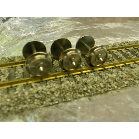 ** Fleischmann 6561 1 x Exchange Wheel Set to convert all 4 Axled Fleischmann wagons to 3-Rail