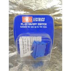 ** Peco PL-22 On / Off Switch Pale Blue Colour.