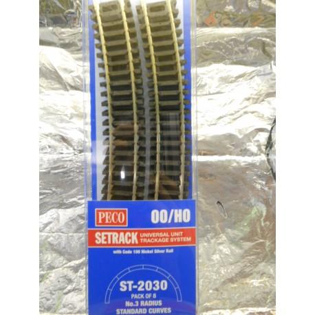 ** Peco ST-2030 3rd Radius Standard Curves ST-230 x 8