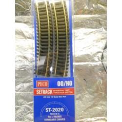 ** Peco ST-2020 1st Radius Standard Curves ST-220 x 8