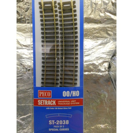 ** Peco ST-2038 Special Curves ST-238 x 2