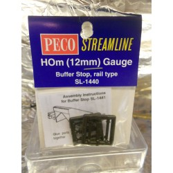 ** Peco SL-1440  Buffer Stop Rail Built Type 2 per Pack.