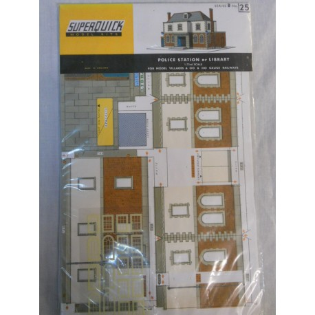 ** SuperQuick B25 Police Station or Library Card Kit