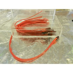 ** MDR 99002 Grain of Wheat Bulb (Red) with attached wires  Pack 10