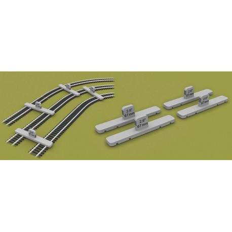 ** Proses PROPT-HO-O2 Parallel Track Tool 67mm 00/H0 Scale