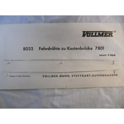** Vollmer 8032 2 x Wires For Vollmer Bridge 7801