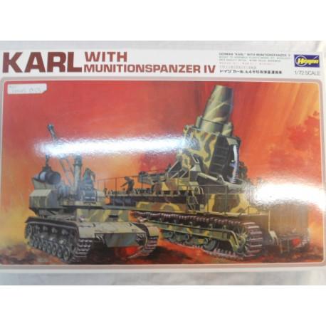 ** Hasegawa MB033 German KARL with MunitionsPanzer 1V 1/72 Scale