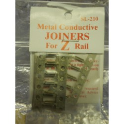 ** Peco SL-210 Metal Conductive Joiners for Z Rail ,4 Frets containing 24 pieces.