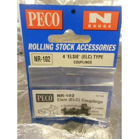 ** Peco NR-102  4 x 'Elsie' (ELC) Type Couplings