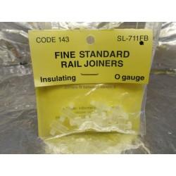 ** Peco SL-711FB Fine Standard Plastic Rail Joiners - 6 Frets, 12 pieces.