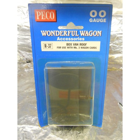 ** Peco R-37 Box Van Roof , For use with Mk3 Wagon Cards (2)
