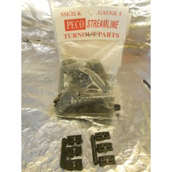 ** Peco SL-802 Turnout Running Rail Fixings for SM32 and Gauge 1 Approx 100