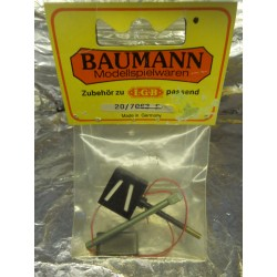 ** Baumann 20/7063 F Lantern for Point Route Setting Lantern has a Electric Light Bulb Installed