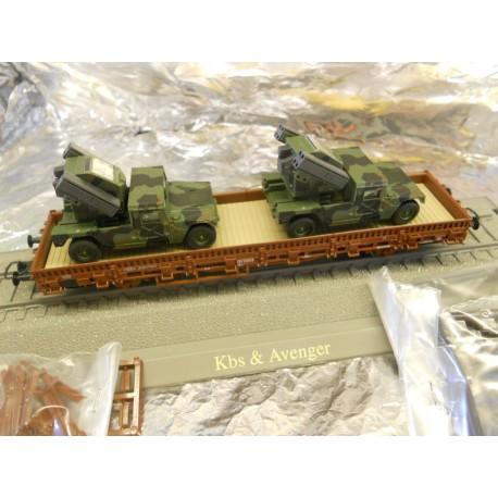 ** Minitank 865 Kbs faltcar with 2 Avenger AA systems.