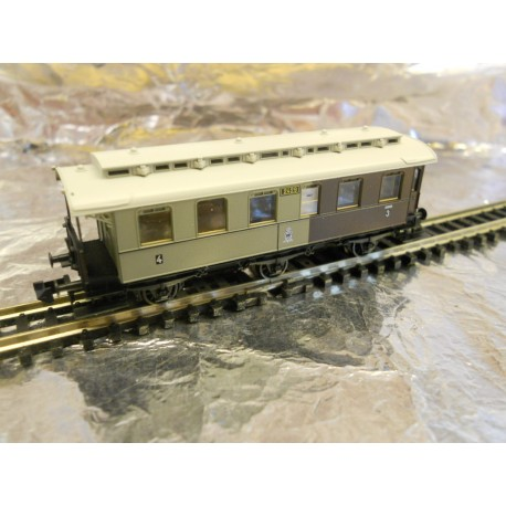 ** Fleischmann 8896 6-Wheeled Passenger Coach 3rd / 4th Class Epoch 1