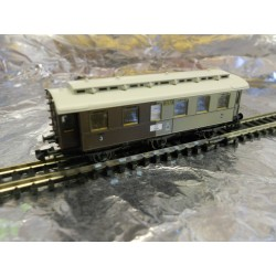 ** Fleischmann 8897 6- Wheeled Passenger Coach 3rd / 4th Class Epoch 1
